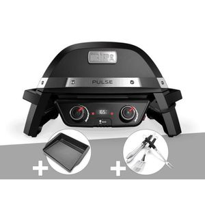 BARBECUE Barbecue électrique Weber Pulse 2000 + Plancha + K