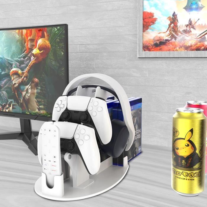 Blanc Support de rangement pour disque de jeu Support de rangement pour poignée Support pour accessoires pour poignée PS5