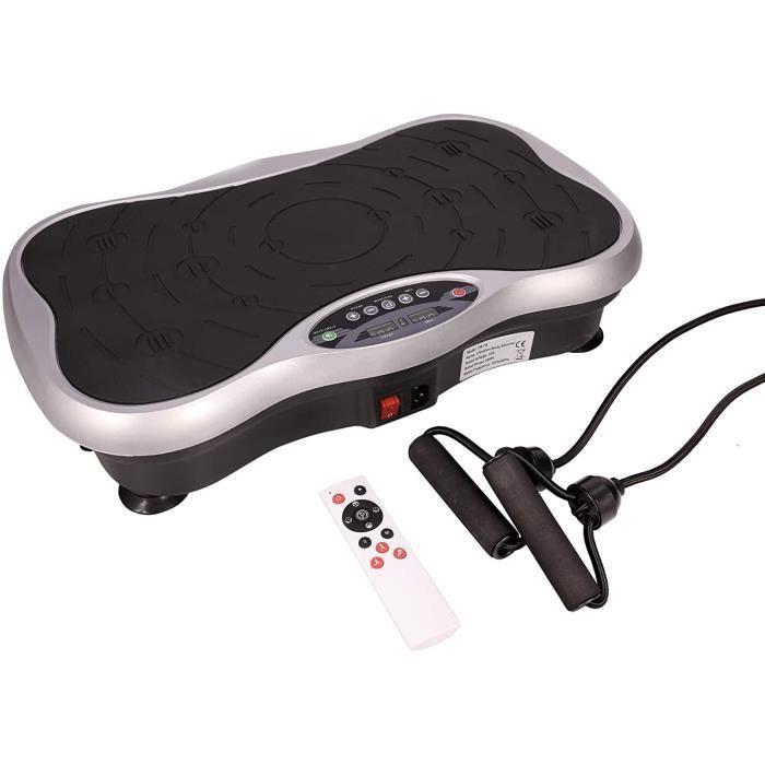 Mini Plateforme Vibrante et Oscillante, 10 Programmes Automatiques Fitness pour Perte de Poids, 0-99 Niveaux avec Télécommande