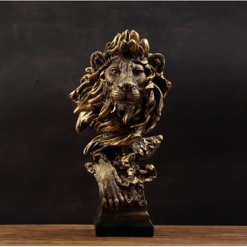 Statue de lion-effet résine-statue décorative