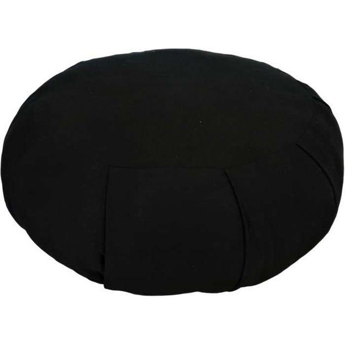 Zafu Traditionnel Noir