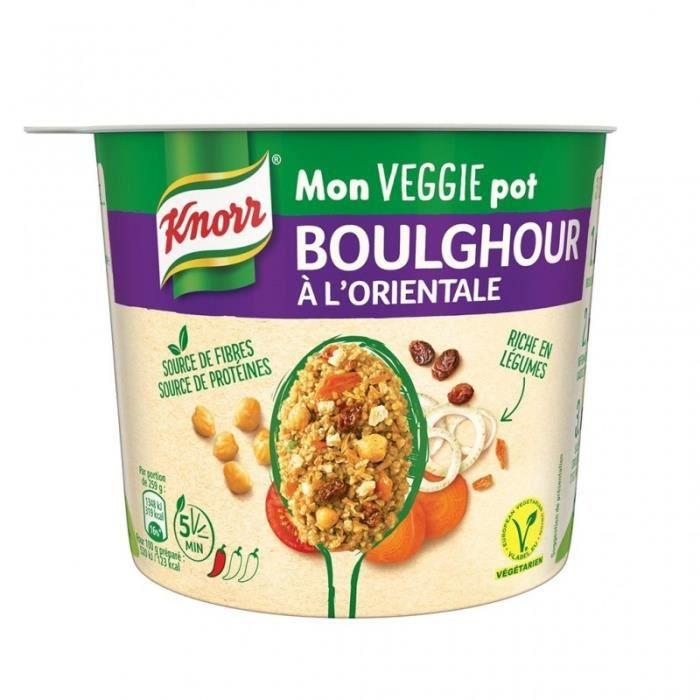 Knorr Mon Veggie Pot Boulghour à l'Oriental 80g (lot de 4)