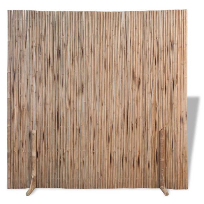 ♫5703 Clôture de jardin Brise vue Classique Bambou 180x170 cm FNCM®