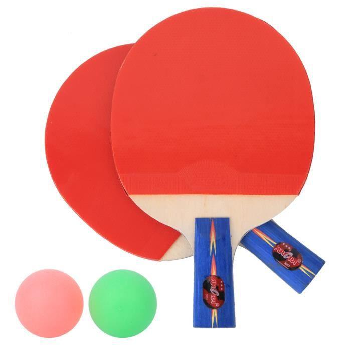 Kit de Entraîneur de Tennis de Table avec Balles de Ping-Pong à Tige Souple Élastique Raquettes-CHD