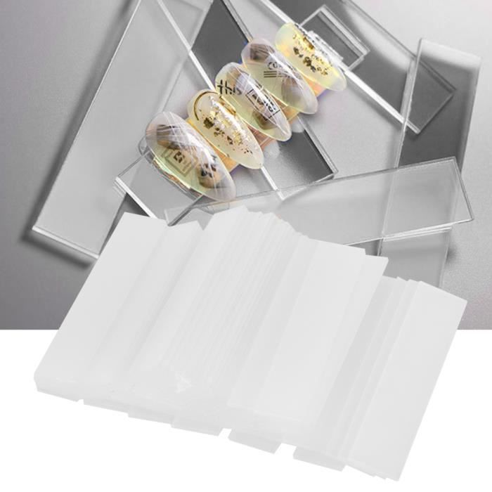 50pcs Carte de couleur d'art d'ongle bande de panneau d'affichage en gel pour ongles outil de manucure-NIM