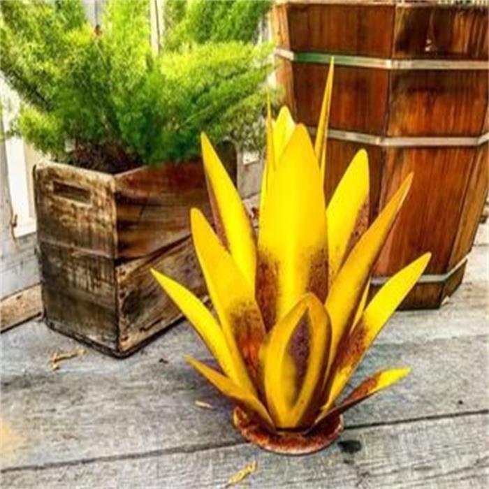 Objet Decoratif Bricolage Métal Art Tequila Sculpture Rustique Jardin Cour Décor À La Maison 9 Feuilles Sjl210201885