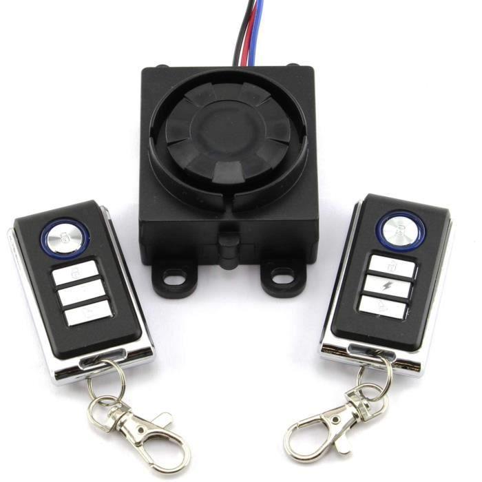 Easy 2 Fit Système d'alarme universel pour moto, scooter 12 V avec 2 télécommandes 125 dB