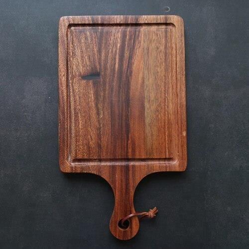 Planche à découper,Planche à découper en bois massif Planche à découper de cuisine domestique, planches en bois - Type 35x20cm