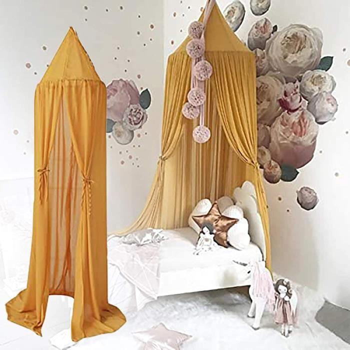 Ciel de lit pour bebe fille garçon Maison de jeuxdôme Moustiquaire ciel de lit Tente de litLit Moustiquaire Lit à Baldaquin Rid 780