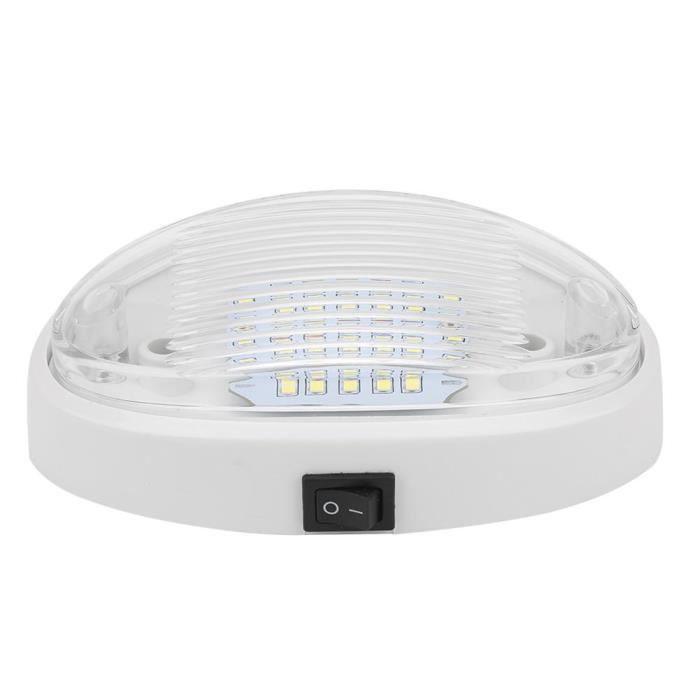 Drfeify plafonnier 12V 12V 400lm LED plafonnier haute luminosité lampe intérieure pour voiture RV Yacht bateau remorque