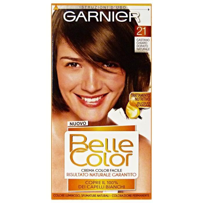BELLE COLOR 21 Or Brun Clair Produits Naturels Cheveux