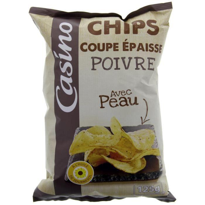 Chips coupe épaisse poivre - 125g