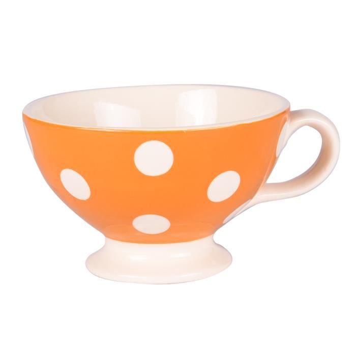Mini jumbo pois 30 cl orange - Déjeuner Sur L'herbe Orange