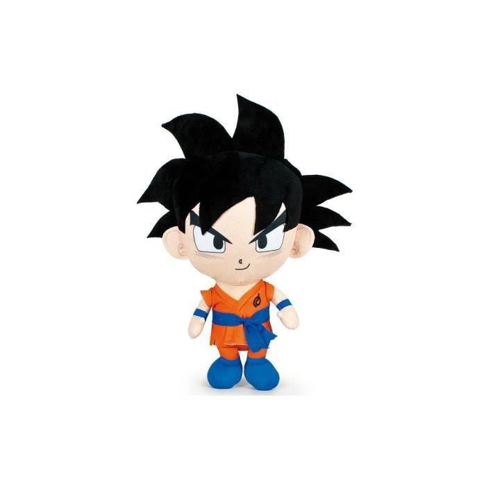 Peluche Dragon Ball Z 35 cm Son Goku Collection Manga - Doudou Licence Super Heros - Enfant