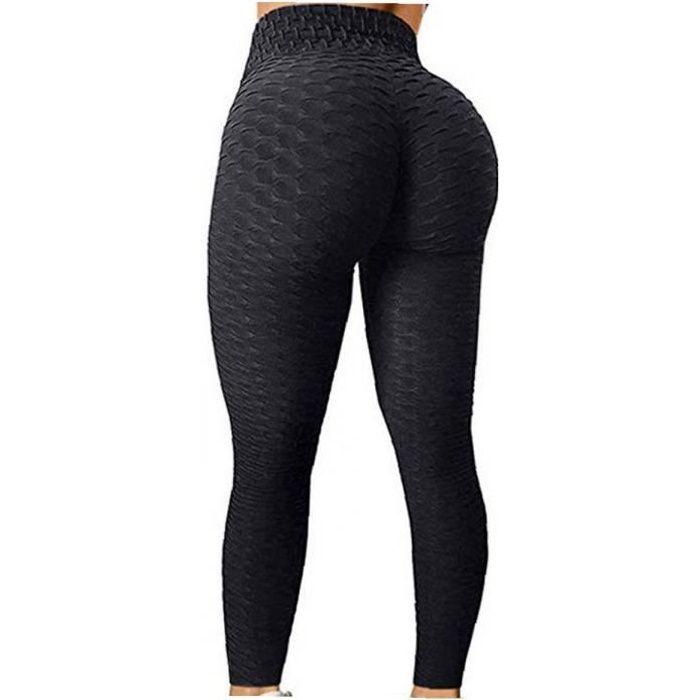 Femmes Yoga Leggings Haute Taille Touche Ascenseur Tummy Control Tummy Sports Gym Pants M
