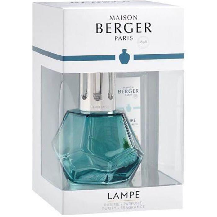 COFFRET LAMPE DIFFUSEUR DE PARFUM GEOMETRY BLEUE - MAISON BERGER PARIS