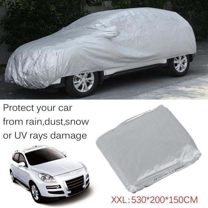 Housse de Protection Voiture Bache Impermeable Respirant XXXL Couverture Universel 530 * 200 * 150cm