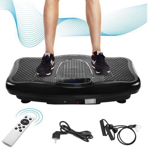 PLAQUE VIBRANTE Vibration Trainer Professional, 2D Rocker Vibration + Bluetooth avec haut-parleur, Télécommande (noir)