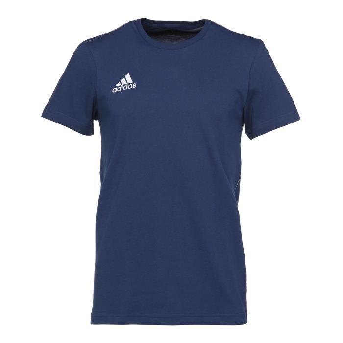 ADIDAS T-Shirt Core Bleu / Blanc