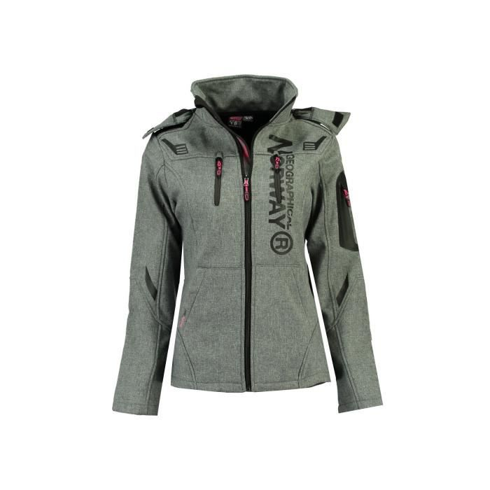 Softshell Femme Geographical Norway Truffe Gris Clair