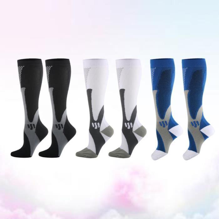 3 paires de chaussettes de de sport de football Running CHAUSSETTES DE RECUPERATION - CHAUSSETTES DE