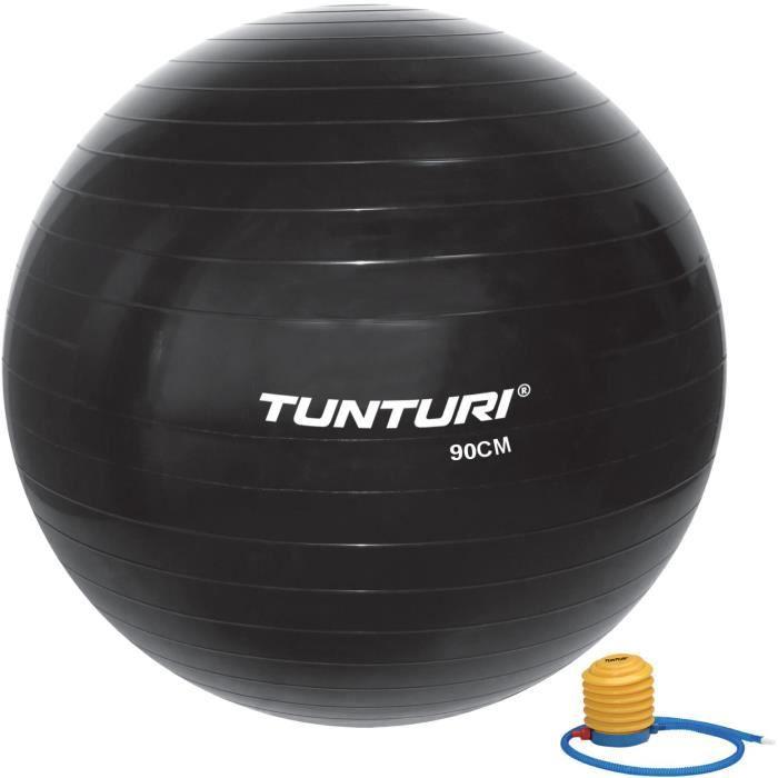 TUNTURI Gym ball ballon de gym 90cm noir
