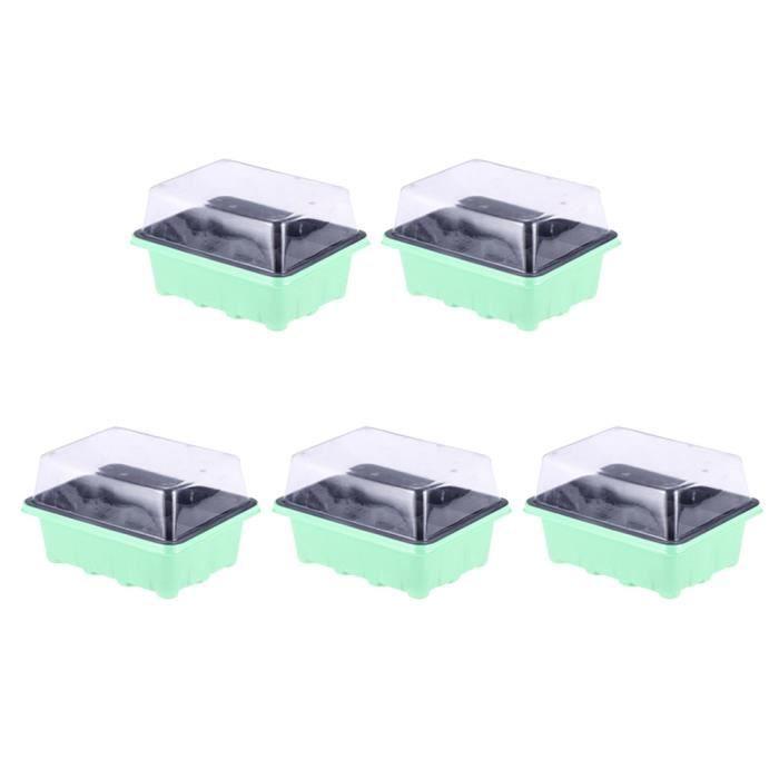 5 Pcs 12 Cellules Semis Plateau Pépinière Pots Ménage Pratique Grower Semence MINI-SERRE - PACK GERMINATION - PACK BOUTURAGE