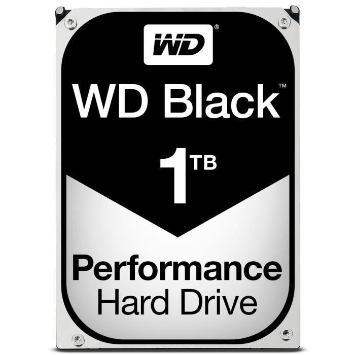 Western Digital Black, 3.5-, 1000 Go, 7200 tr-min, Série ATA III, 64 Mo, Disque dur