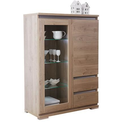 vitrine 1 porte en verre 1 porte pleine 2 tir achat vente vitrine argentier vitrine 1. Black Bedroom Furniture Sets. Home Design Ideas