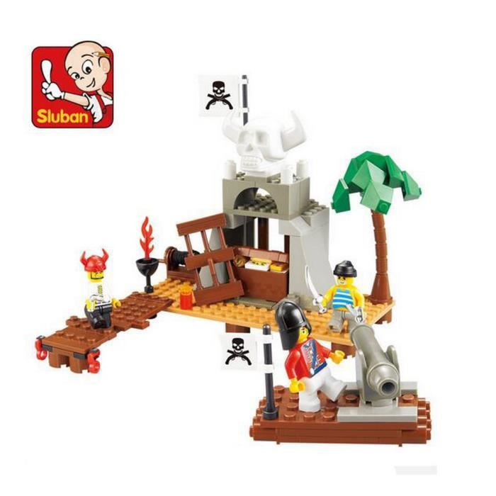 Sluban assemblage plastique blocs de construction pirates for Modele maison lego