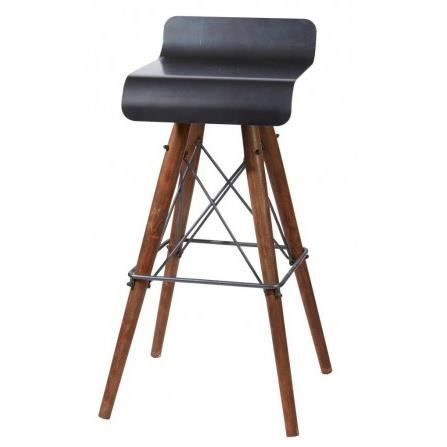 tabouret de bar design en fer et bois kleen achat vente tabouret de bar fer bois m tal. Black Bedroom Furniture Sets. Home Design Ideas