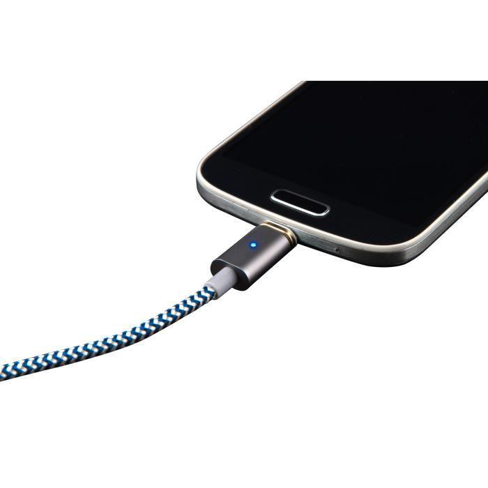 CÂBLE INFORMATIQUE BLUESTORK Câble micro USB magnétique réversible ve