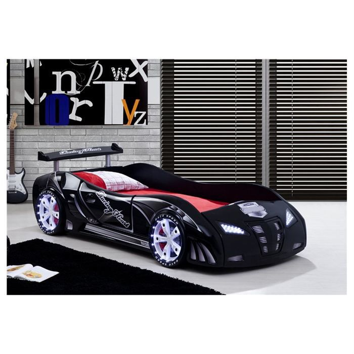 lit enfant voiture le mans racing noir achat vente lit. Black Bedroom Furniture Sets. Home Design Ideas