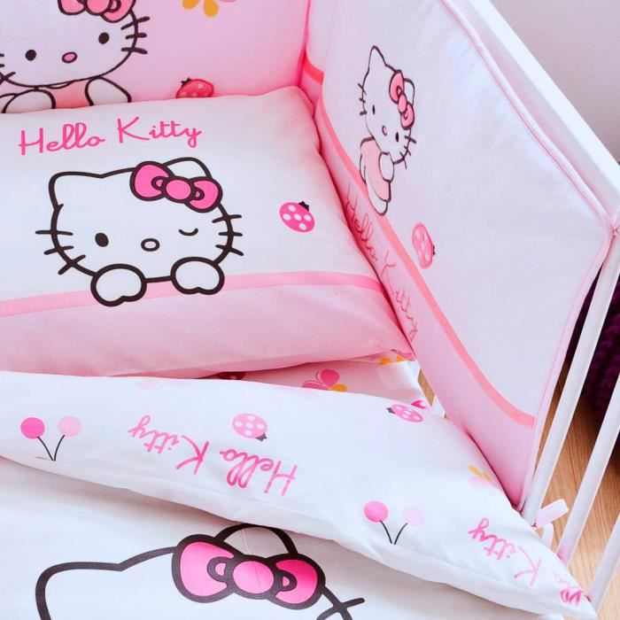 housse clic clac hello kitty Drap housse bébé Hello Kitty Coccinelle 100% co   Achat / Vente  housse clic clac hello kitty