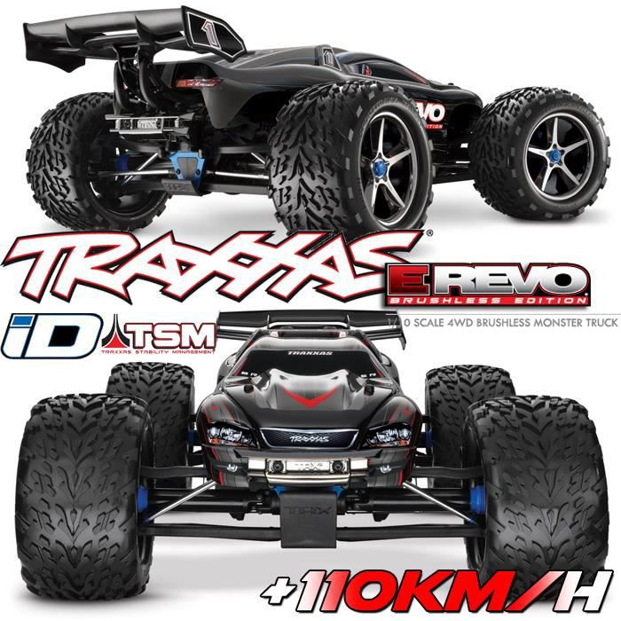 voiture rc truggy e revo 4x4 1 10 brushless wireless telemetrie tsm id 1 10 me. Black Bedroom Furniture Sets. Home Design Ideas