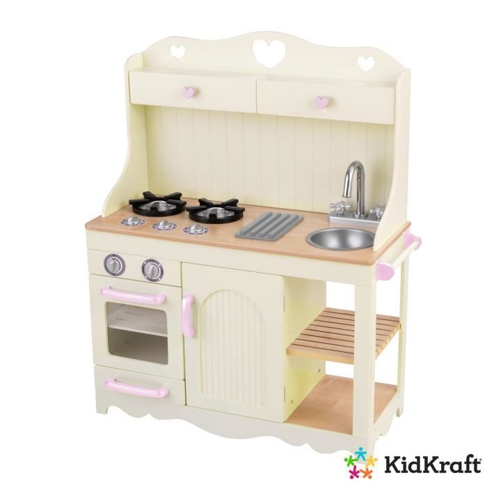 cuisine enfant prairie kidkraft en bois achat vente. Black Bedroom Furniture Sets. Home Design Ideas
