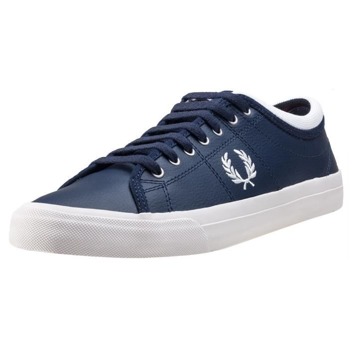 Fred Perry Kendrick Tipped Cuff Hommes Baskets Navy Red - 7 UK 3tmxvpI