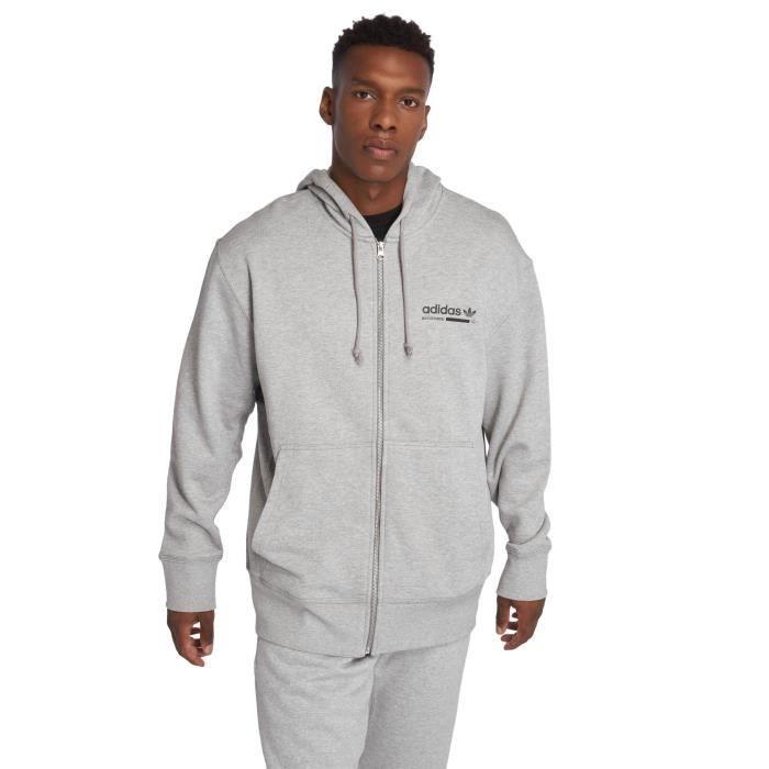 sweat capuche hommes adidas gris