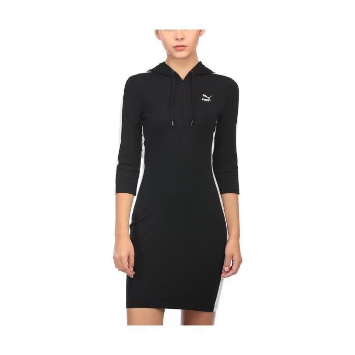 PUMA Femmes A ligne de robe de coton W9OXA Taille 36 Noir