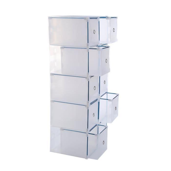 MEUBLE À CHAUSSURES set - 10 boîtes à chaussures / boîtes de rangement