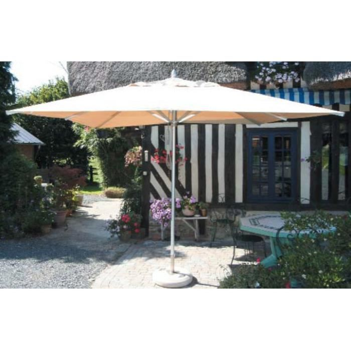 parasol aluminium rectangulaire 3x4m alu d honf achat vente parasol ombrage parasol. Black Bedroom Furniture Sets. Home Design Ideas