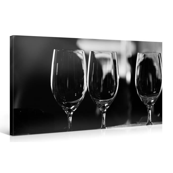 tableau sur toile verres vin 100x50cm achat vente. Black Bedroom Furniture Sets. Home Design Ideas