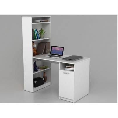 bureau tag re lexigo avec rangements blanc achat vente bureau bureau tag re lexigo avec. Black Bedroom Furniture Sets. Home Design Ideas
