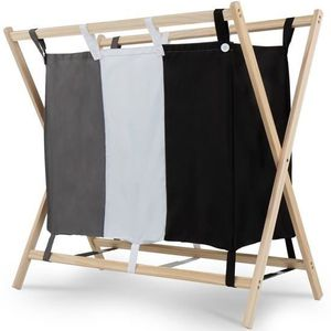 panier a linge 3 compartiments achat vente panier a linge 3 compartiments pas cher cdiscount. Black Bedroom Furniture Sets. Home Design Ideas