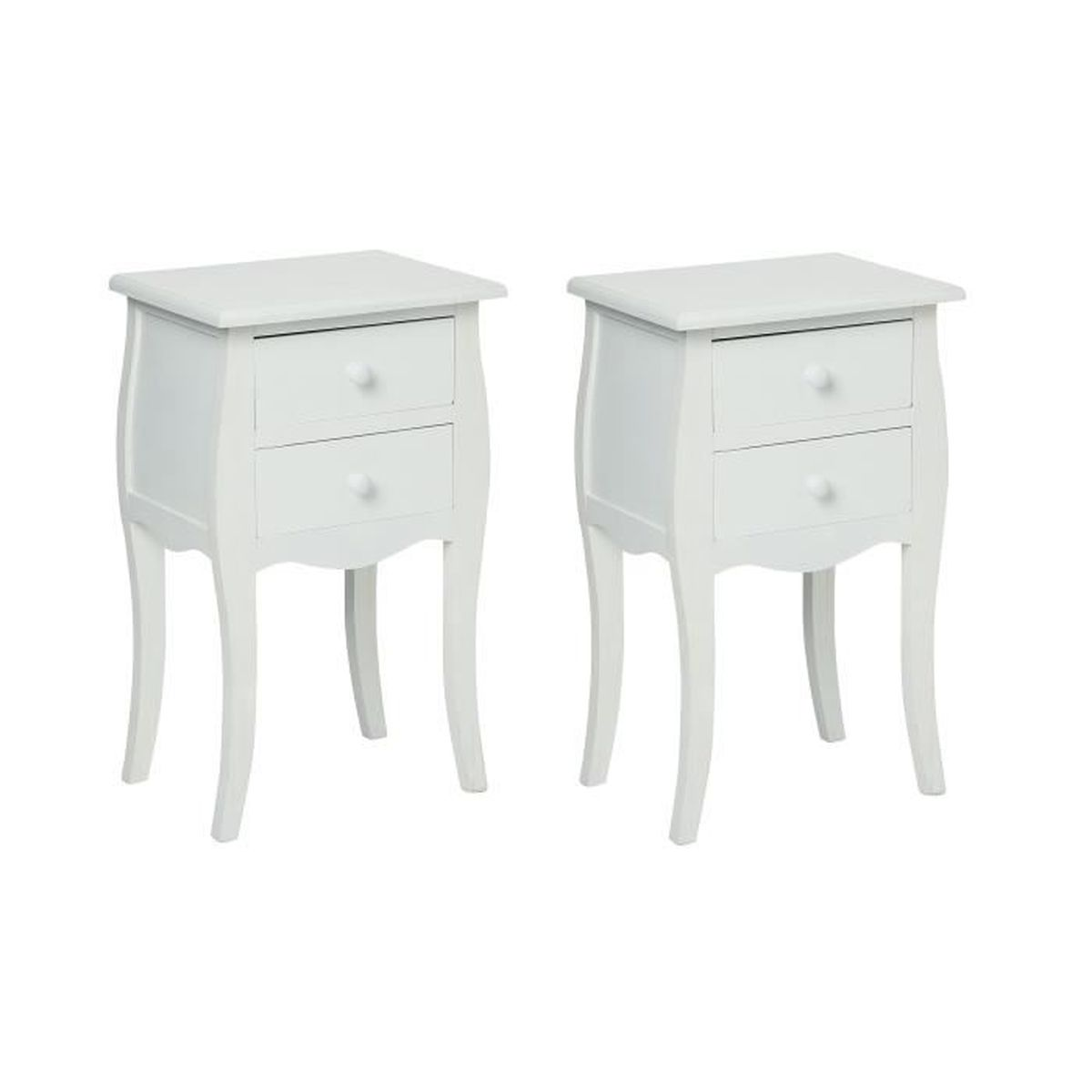 Table de chevet 2t blanc achat vente commode de for Table de chevet bebe