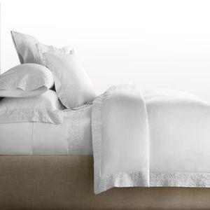 Sophie Parure de lit avec Housse de Couette brod/ée /à Bordure en Dentelle Polycoton Motif Floral Super King Size