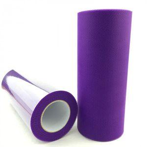 BANDEROLE - BANNIÈRE Version deep purple - Rouleau De Tulle 15 Cm 22 M