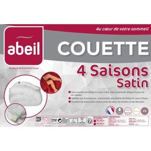 COUETTE ABEIL Couette 4 SAISONS Satin de Coton 220x240cm