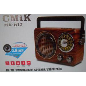 RADIO CD CASSETTE Radio Rechargeable Vintage FM AM SW 1-3 USB MP3 TF