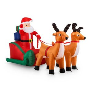 gonflage Rapide Gonflable De No/ël De Poup/ée Christmas Santa Claus P/ère No/ël Gonflable p/ère No/ël de chevauchant lours Blanc pour la d/écoration de Jardin de Cour int/érieure//ext/érieure de No/ël